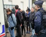 France protests: Footage